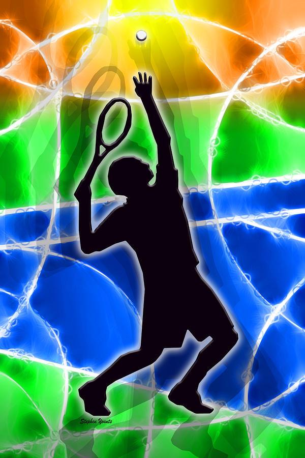 Tennis Digital Art - Tennis by Stephen Younts
