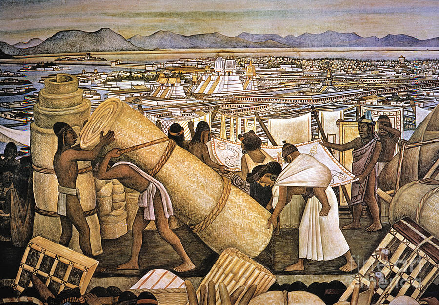 American Indian Photograph - Tenochtitlan (mexico City) by Granger
