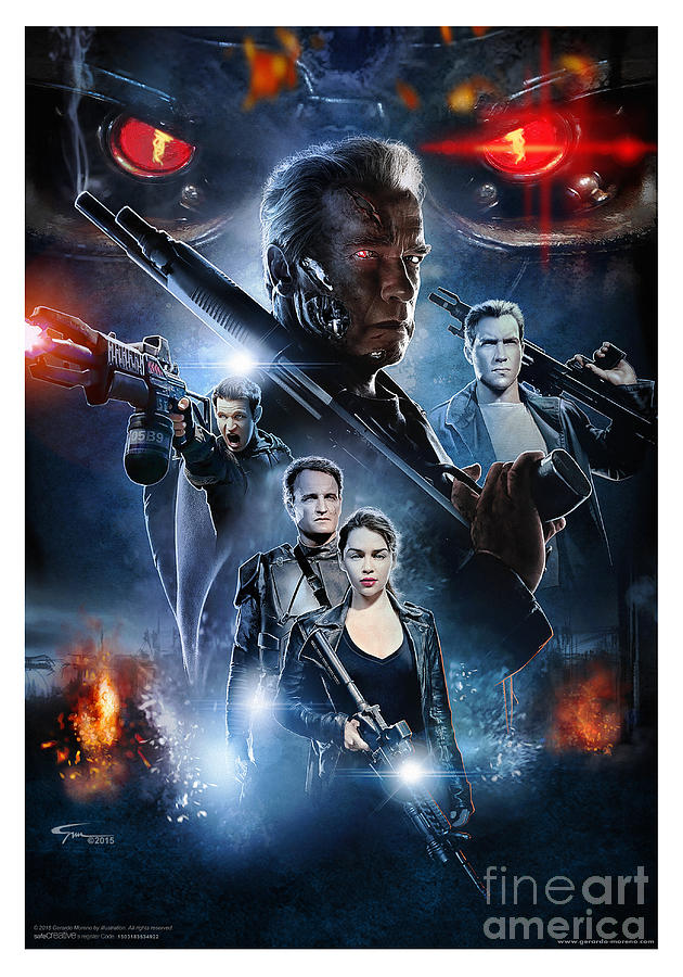 Terminator Genisys Digital Art By GM Illustrator