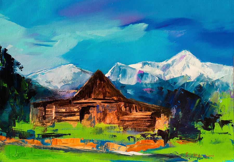 Teton Barn Painting