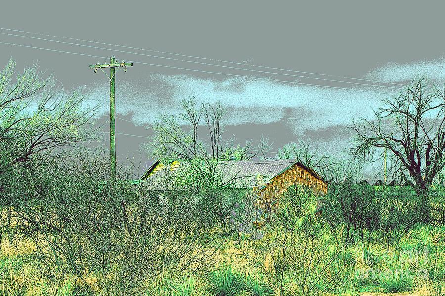Texas Farm House - Digital Painting Photograph