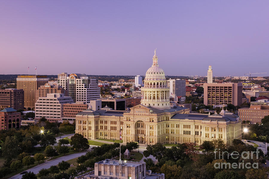 Architectural Detail Photograph - Texas State Capitol by Jeremy Woodhouse