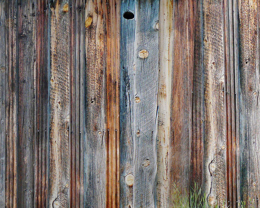 Photograph Photograph - Textures Of An Old Barn by Terril Heilman