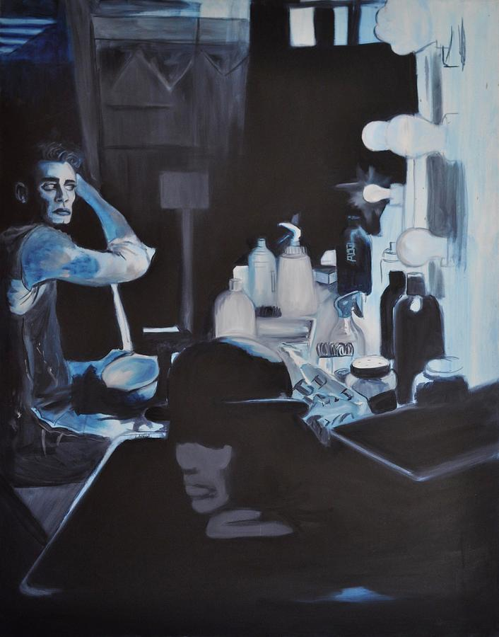 Blue Painting - Th Show Must Go On by Mitchell Todd
