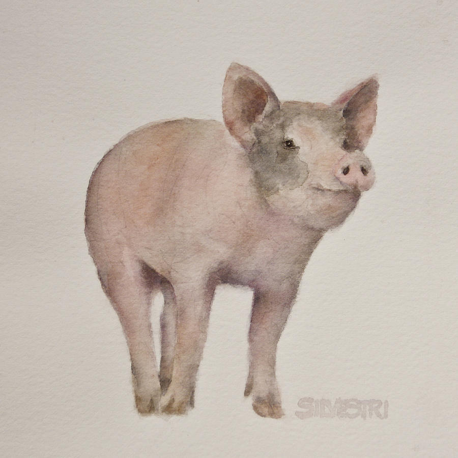 Piglet Painting - Thats Some Pig by Teresa Silvestri