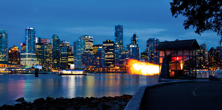The 9 Oclock Gun In Vancouver Photograph