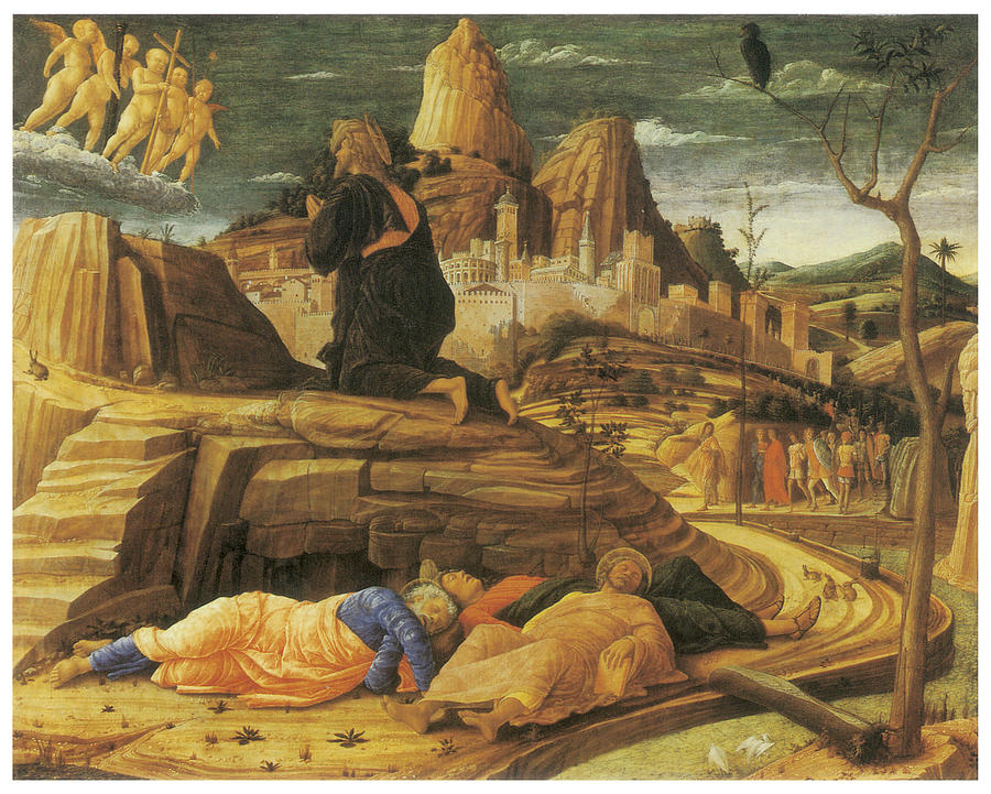 The Agony In The Garden Painting By Andrea Mantegna