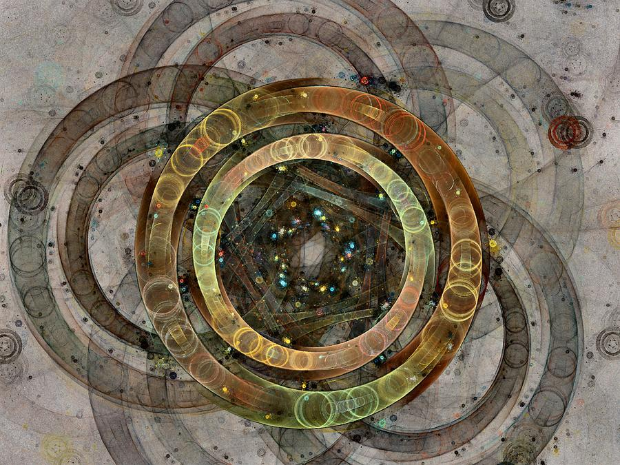 Circles Digital Art - The Almagest - Homage To Ptolemy - Fractal Art by NirvanaBlues