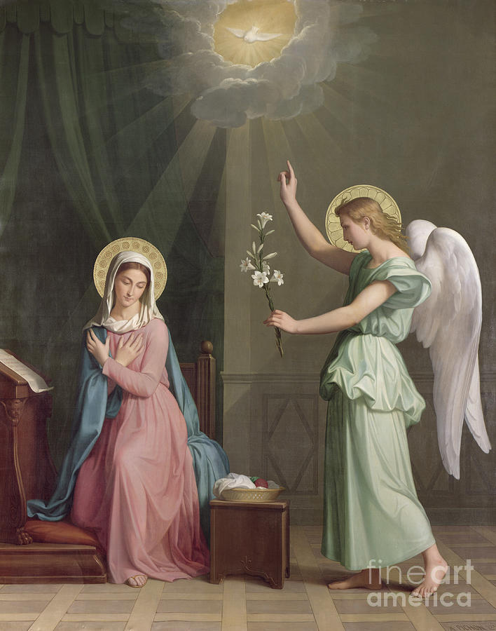 The Painting - The Annunciation by Auguste Pichon
