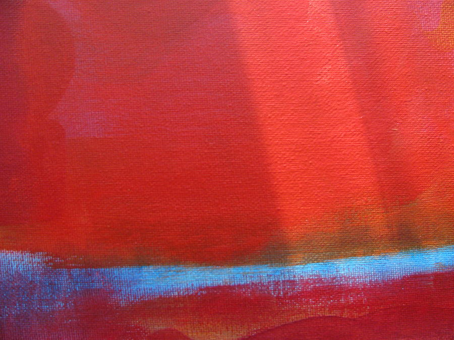 Red Painting - The Arctic Grid by Lindie Racz