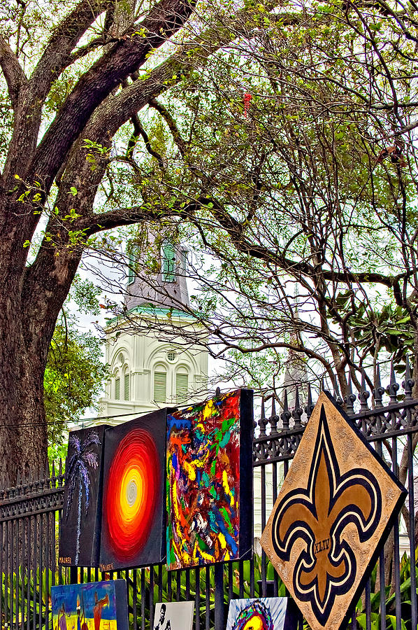 French Quarter Photograph - The Art Of Jackson Square by Steve Harrington