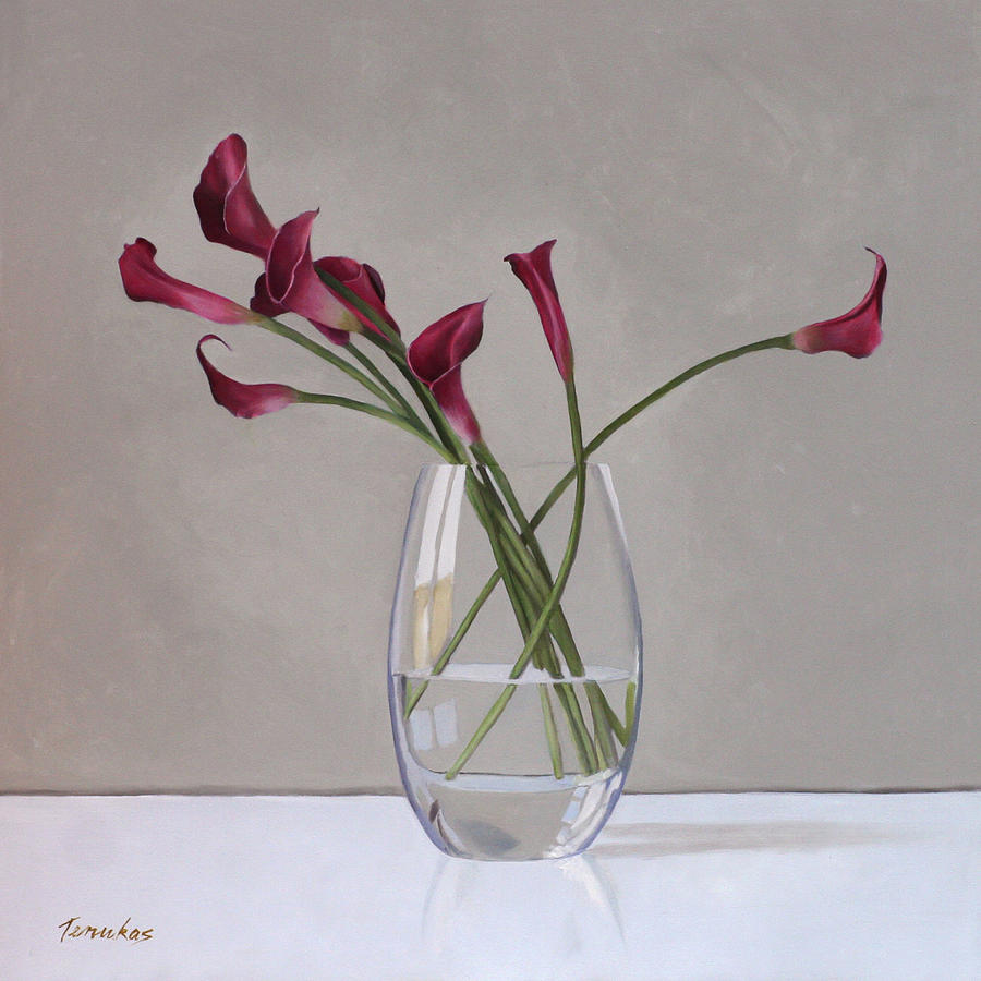 Calla Painting - The Artists Life by Linda Tenukas