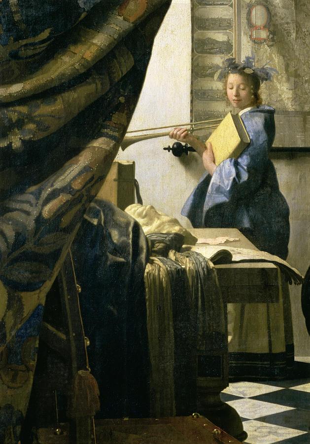 The Painting - The Artists Studio by Jan Vermeer