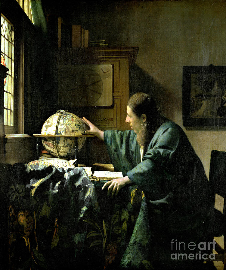 The Painting - The Astronomer by Jan Vermeer