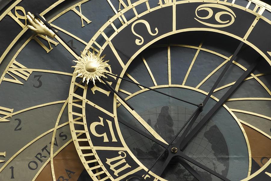 Prague Photograph - The Astronomical Clock In Prague by Liz Pinchen