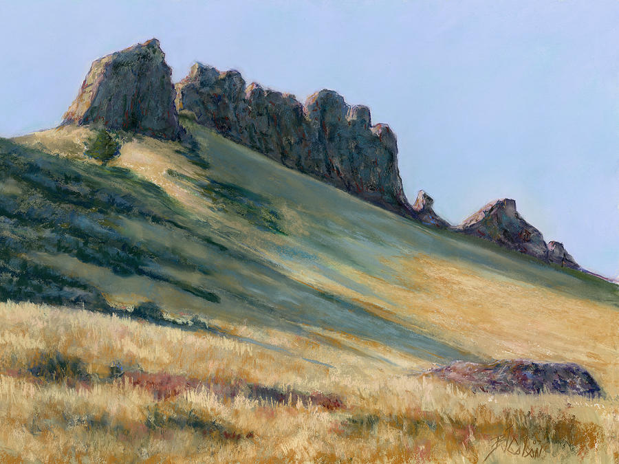 Loveland Colorado Landscape Painting - The Backbone by Billie Colson