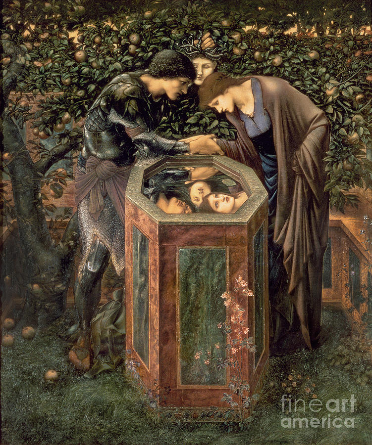 The Painting - The Baleful Head by Sir Edward Burne-Jones