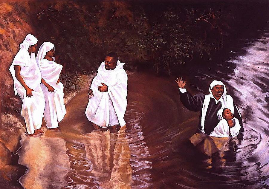 Baptist Pastel - The Baptism by Curtis James