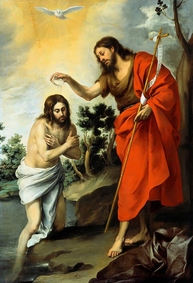 Baptism Of Christ Painting - The Baptism Of Christ by Bartolome Esteban Murillo
