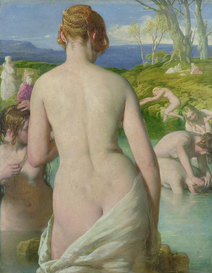 Nude Painting - The Bathers by William Mulready