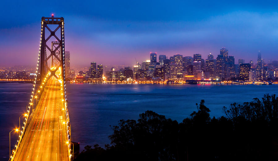 Bridge Photograph - The Bay Bridge by Alexis Birkill