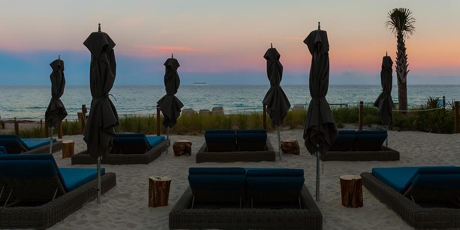 The Beach Club At Sundown Photograph