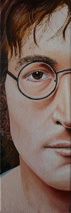 The Beatles Painting - The Beatles John Lennon by Vic Ritchey