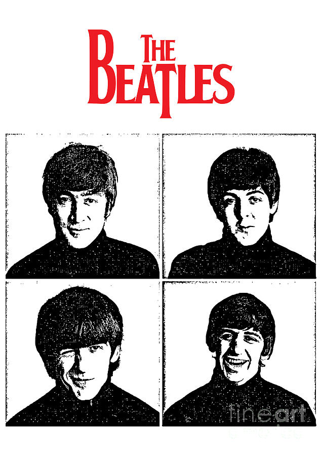The Beatles Digital Art - The Beatles No.12 by Caio Caldas