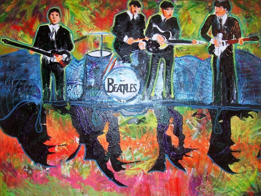 Tony Lima  Painting - The Beatles by Ottoniel Lima