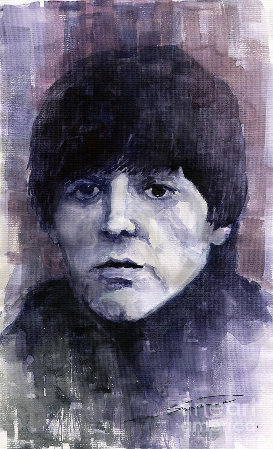 Watercolor Painting - The Beatles Paul Mccartney by Yuriy  Shevchuk