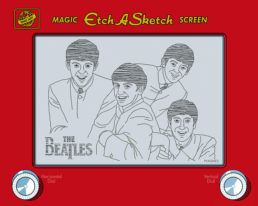 Beatles Digital Art - The Beatles by Ron Magnes