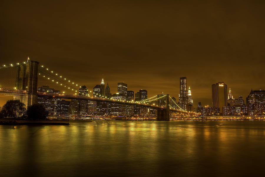 Bruecke Photograph - The Beauty Of Manhattan by Andreas Freund