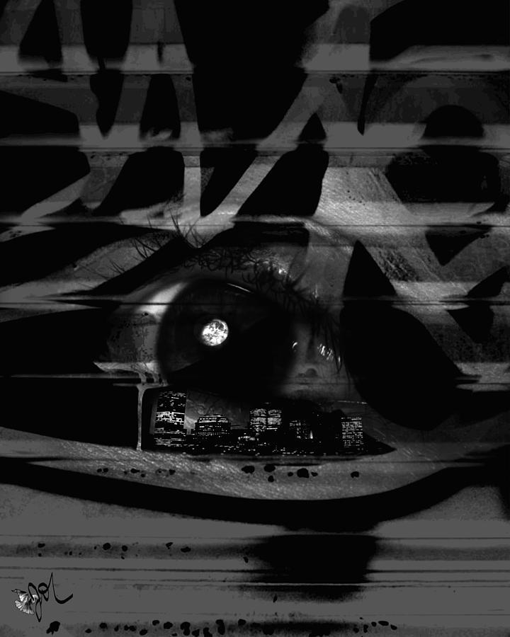 Abstract Digital Art - The Beholder by Ken Walker