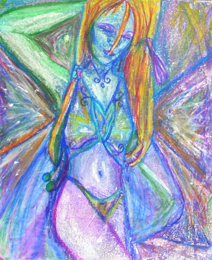 Belly Mixed Media - The Belly Dancer by Sarah Crumpler