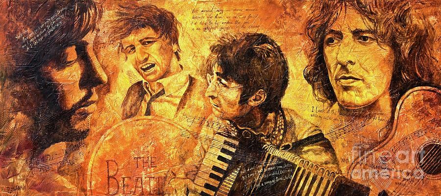 The Beatles Painting - The Best Forever by Igor Postash