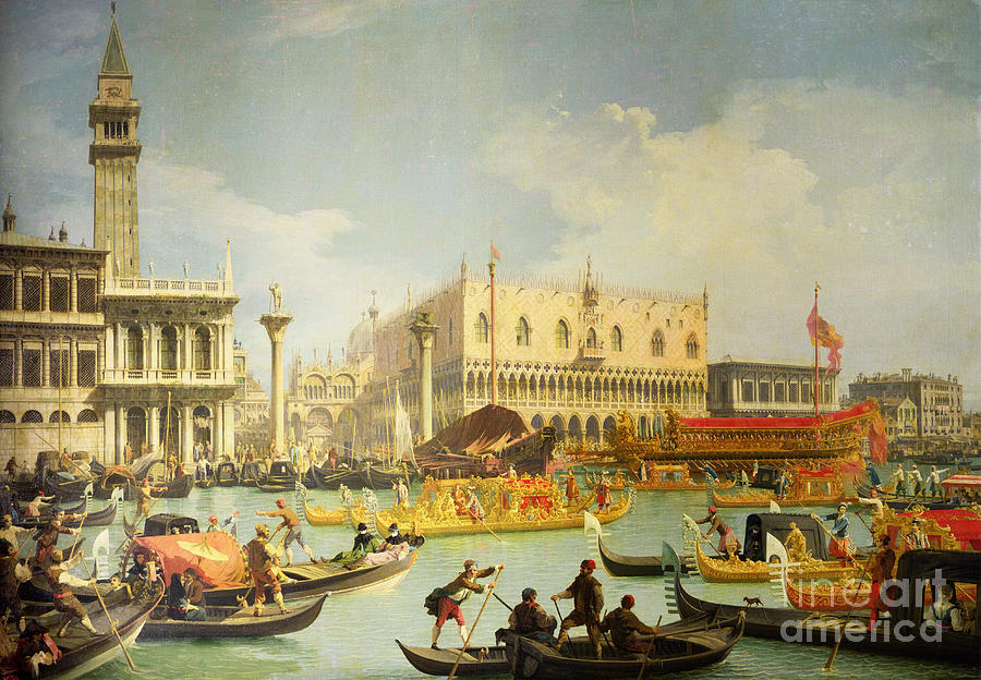The Painting - The Betrothal Of The Venetian Doge To The Adriatic Sea by Canaletto