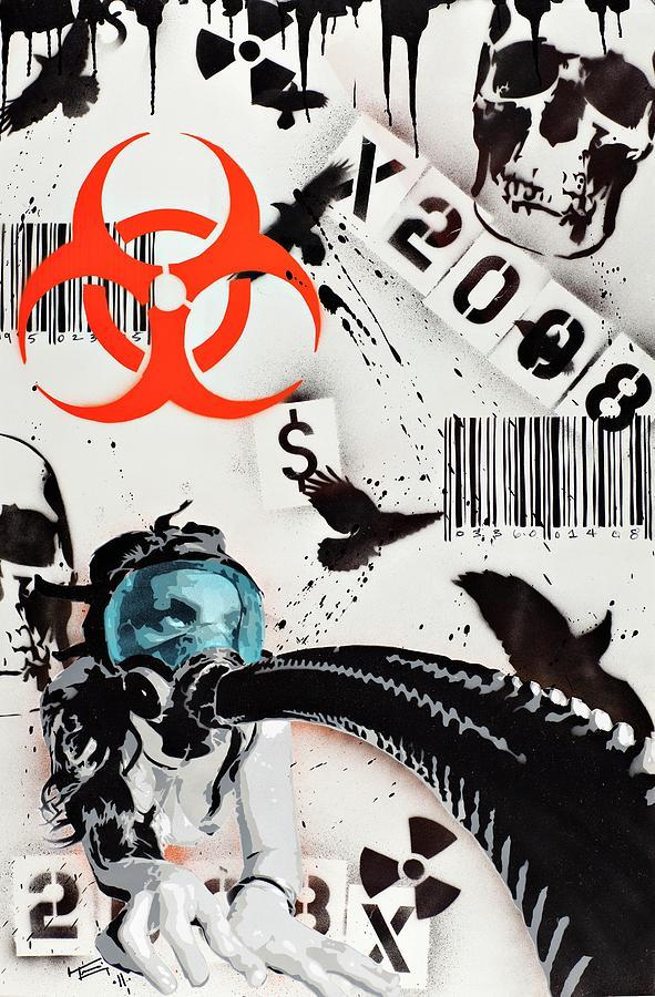 The Biohazard Bargain Barcode Painting