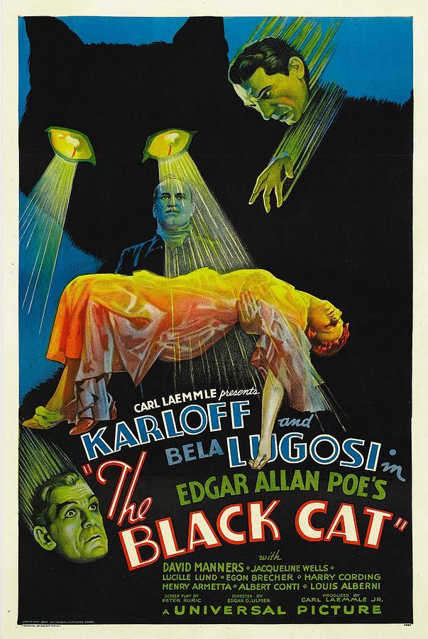 1930s Movies Photograph - The Black Cat, Boris Karloff, Harry by Everett