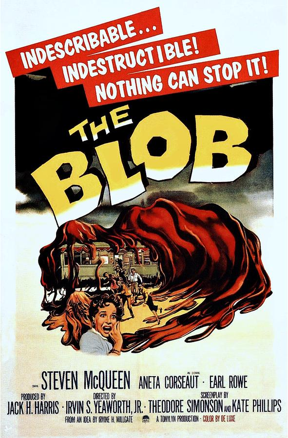 The Blob Photograph - The Blob  by Movie Poster Prints