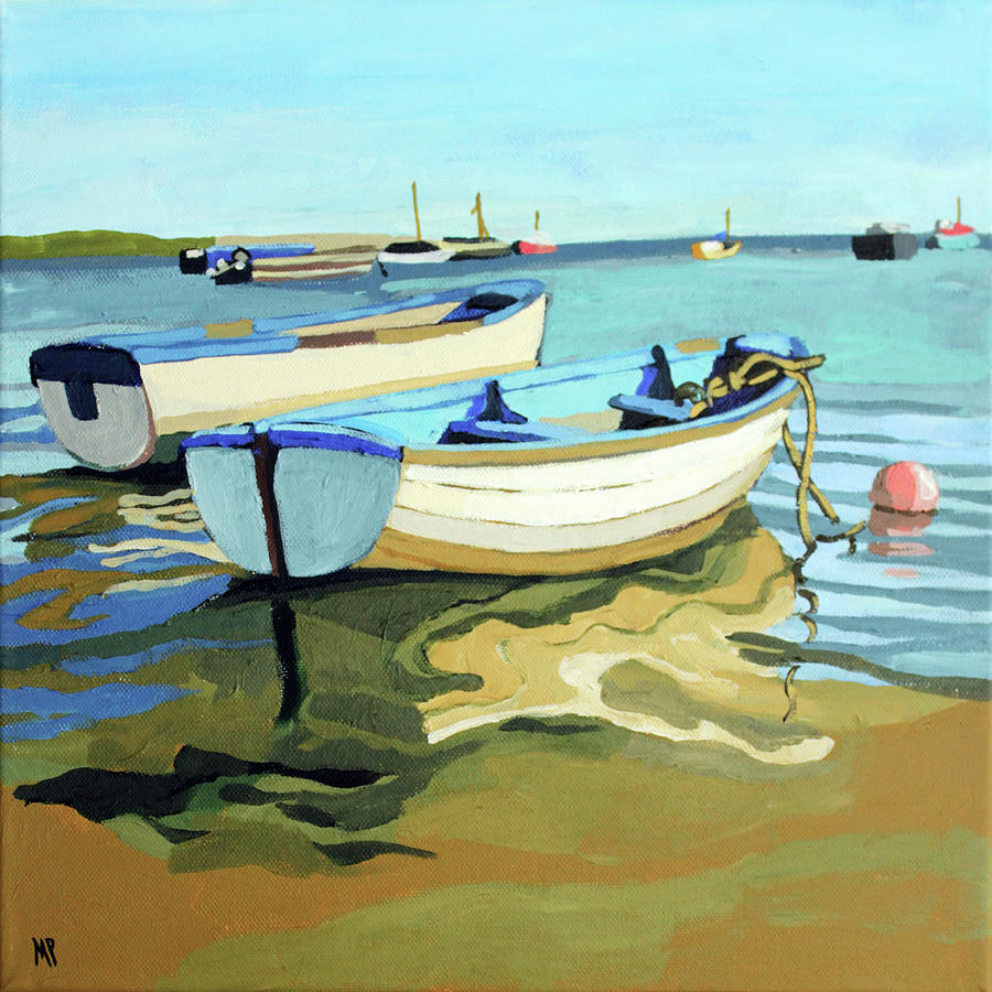 The Blue Boats Painting