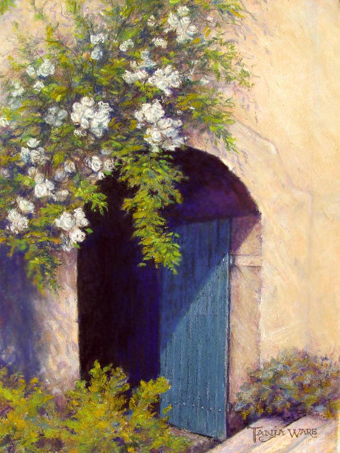 Door Painting - The Blue Door by Tanja Ware