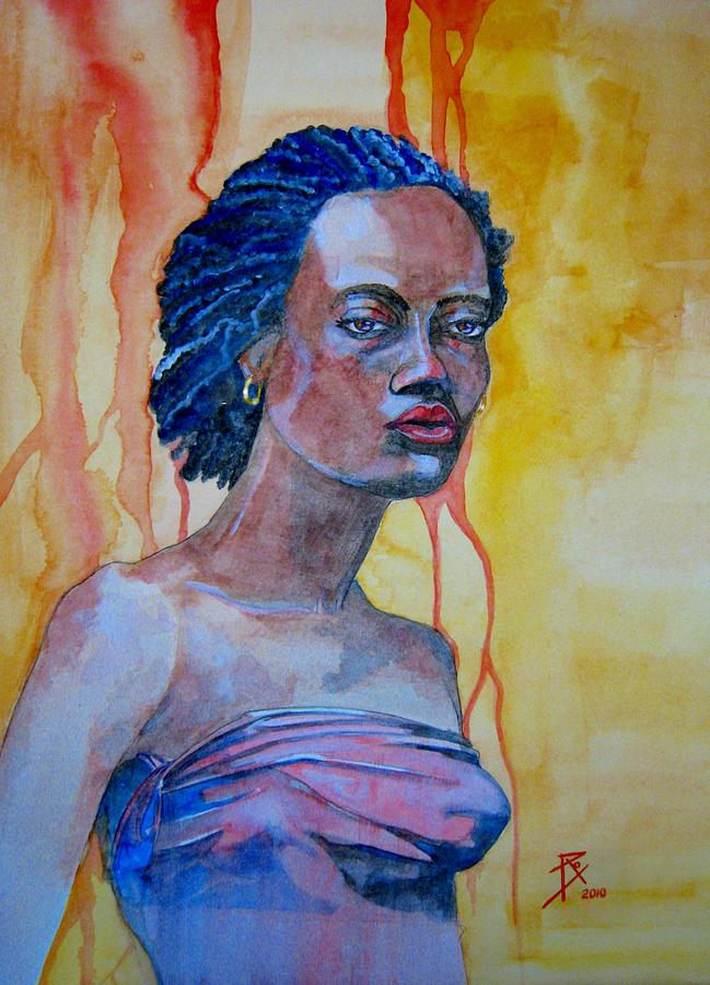 The Blues Singer Painting