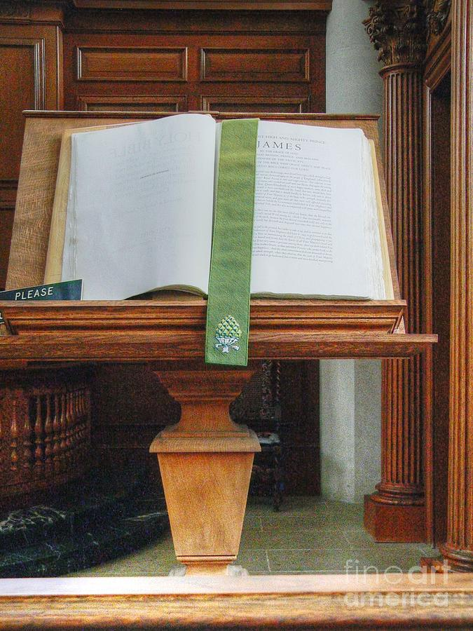 Westminster College Photograph - The Book Of James by David Bearden