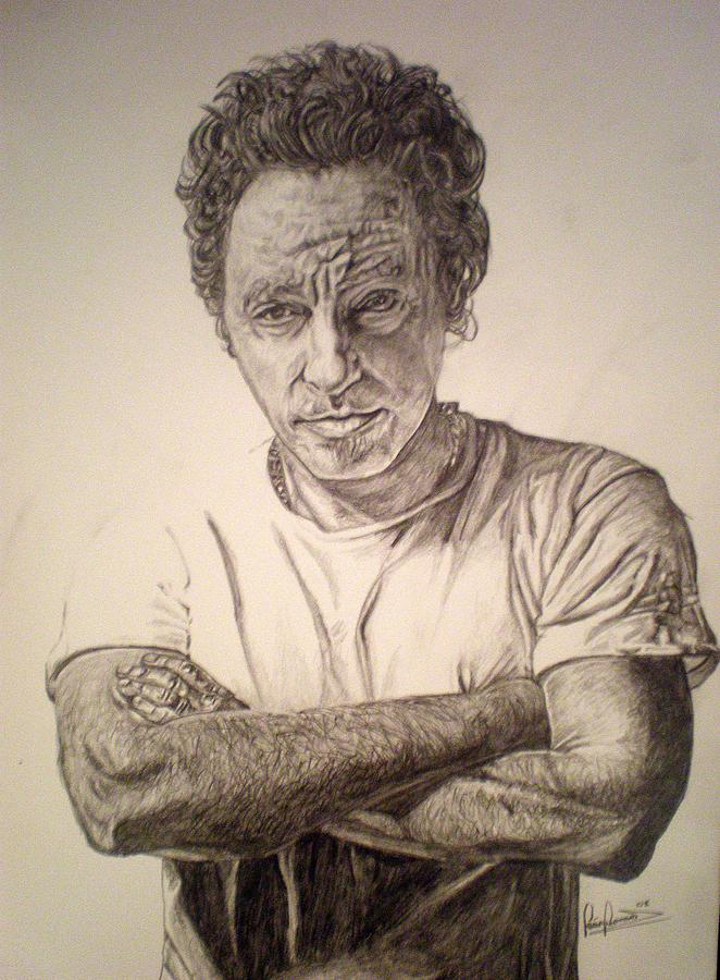 The Boss Drawing - The Boss by Sean Leonard