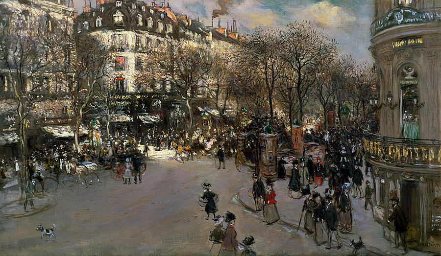 The Boulevard Des Italiens Painting