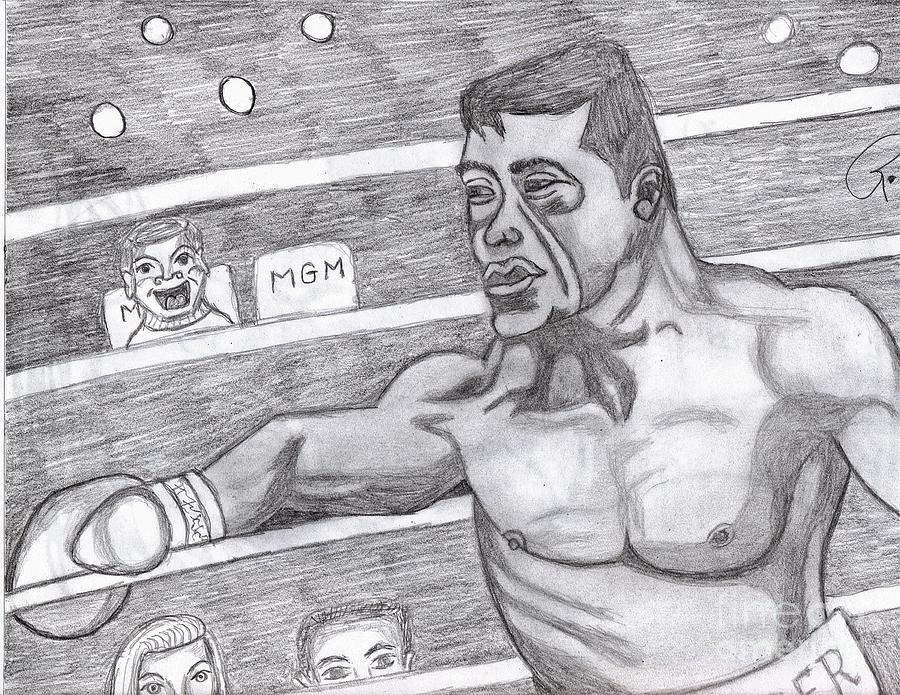 Nude Painting - the Boxer by Richard Heyman