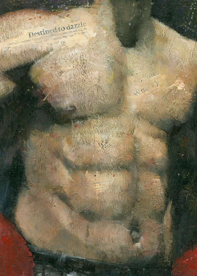 Male Painting - The Boxer by Steve Mitchell