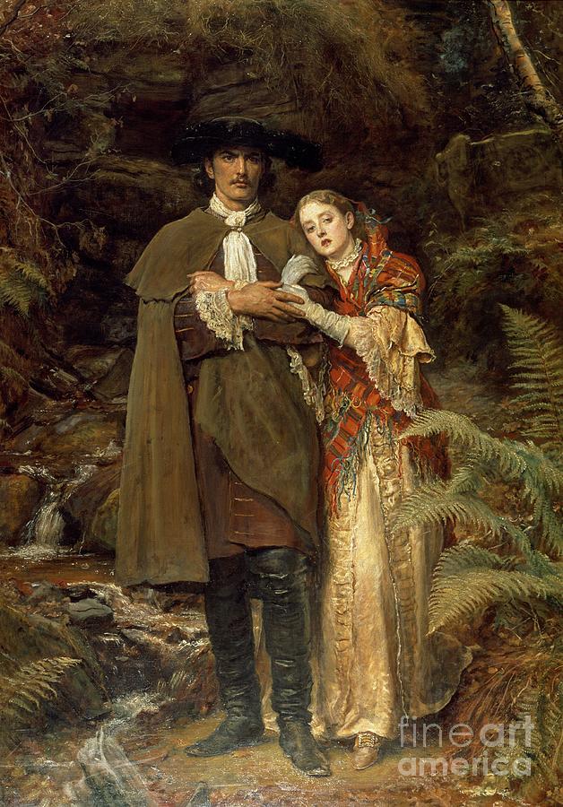The Painting - The Bride Of Lammermoor by Sir John Everett Millais