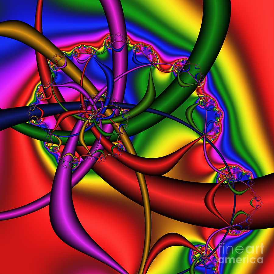 Abstract Digital Art - The Bridges Of Mad Dizzy County 184 by Rolf Bertram