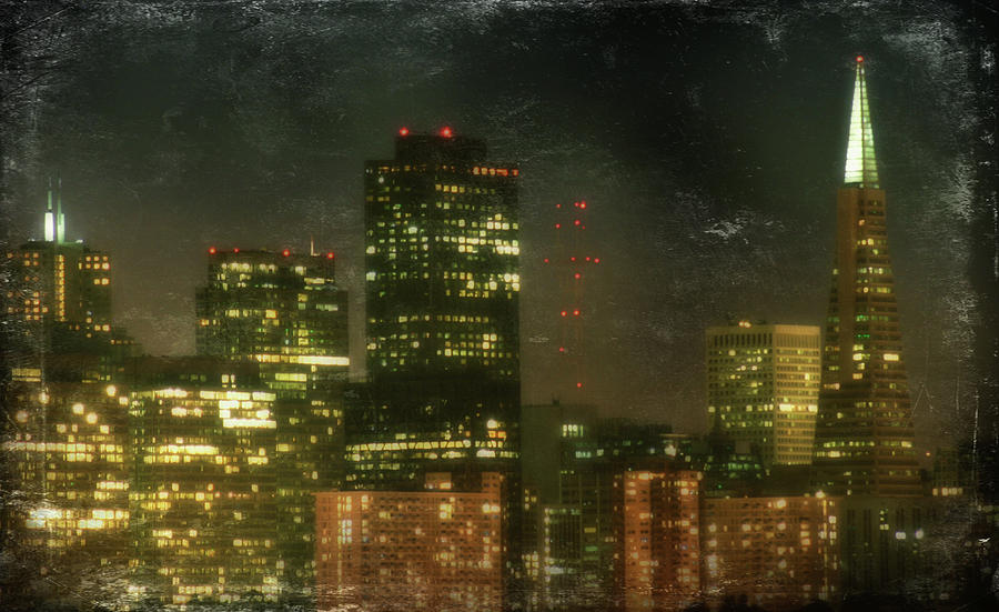 City Skyline Photograph - The Bright City Lights by Laurie Search
